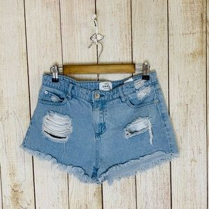 Obey | distressed Jean Shorts